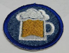 Beer Iron on Patch / Merit Badge by waggonswest on Etsy