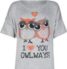 For my Kappa girls...FULL TILT Love You Owlways Girls Tee