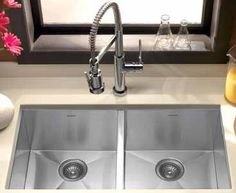 stainless steel undermount sink - Google Search**** consider putting a frame around the window, currently an odd configuration