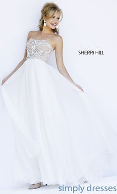 Dress, Floor Length Strapless Sherri Hill Dress 11262 - Simply Dresses