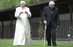 His Holiness Pope Benedict XVI and his brother, Monsignor Georg Ratzinger