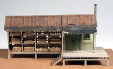 Vilius's scale modeling endeavors: Building Currier & Sons by South River Modelworks Ho Train Layouts, Model Training, Ho Scale Buildings, Yard Sheds, Beer Making Kits, Lumber Storage, Making A Model, Ho Trains, How To Make Beer
