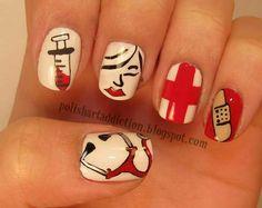 Nurse manicure fingernails