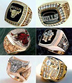 Chicago Bulls - 1991, '92, '93, '96, '97, '98 - Championship Rings