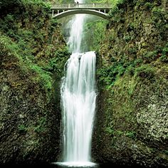 At 620 feet, Multnomah Falls near Portland, OR, is the second-tallest year-round waterfall in the country.
