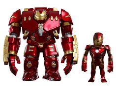 Avengers L'Ere d'Ultron Bobble Heads Artist Mix Hulkbuster and Battle Damaged Iron Man Hot Toys