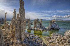 Mono Lake tufa (dissolving salts forming towers) by J-C-M