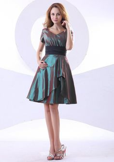 2013 mother of the bride dresses | 2013 New Arrival Ruched Short Sleeves Knee Length Mother of the Bride ...