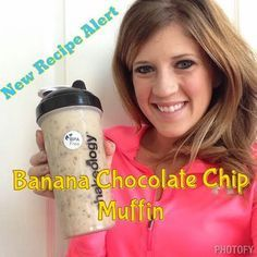 Banana Chocolate Chip Muffin Shakeology! Oh my goodness! This is my new favorite! SOOO good! Check out other shake recipes and clean eating recipes at www.sarahgriffith27.blogspot.com