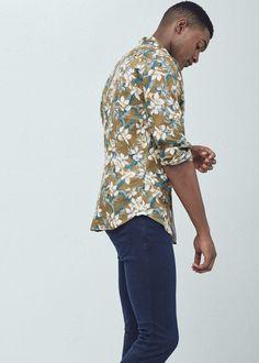 Camisa slim-fit estampado floral   MANGO MAN