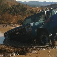 Us mudding! Lol or maybe swimming Old Trucks, Chevy Trucks, Muddy Trucks, Pavement, 4x4, Monster Trucks, Bucket, Swimming, Cars