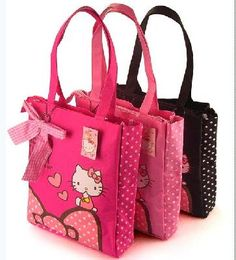 Hello kitty canvas handbag,women bag 2012,shoulder bag FREE SHIP#3