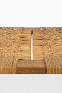 Børge Mogensen bench in oak and woven cane at Studio Schalling