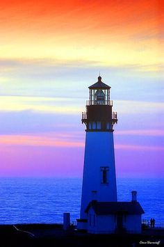Yaquina Lighthouse, Newport, Oregon. Magnificent Sky