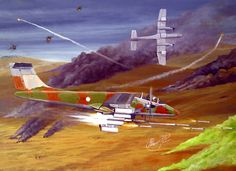 Argentinian airstrike over Falkland