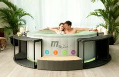 Mspa Glow with LED Inflatable spa Jacuzzi Hot Tub, Spa Tub, Spas, Spa 4 Places, Inflatable Hot Tub Reviews, Spa Sauna, Tubs For Sale, Best Cleaning Products, Whirlpool Bathtub
