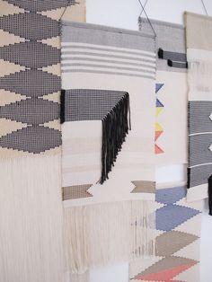 Tenture murale tissée main/ Tapisserie/ Tissage/ Art textile/ Coton on Etsy, 79,47 €