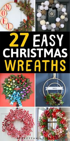 Master Bedroom Decorating Concepts - DIY Crown Molding Set Up 27 Diy Christmas Wreaths To Try This Year Homemade Christmas Wreaths, Simple Christmas, Holiday Wreaths, Diy Christmas Gifts, Christmas Holidays, Christmas Projects, Christmas Wreaths Diy Ornaments, Outdoor Christmas Wreaths, Christmas Ideas