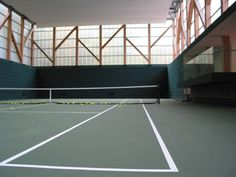 Indoor tennis court of a private residence. ArchDigest 2006