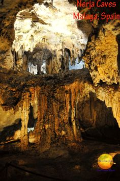 One of the many Stalagmite and Stalactite formations inside the Nerja Caves of Malaga, Spain.