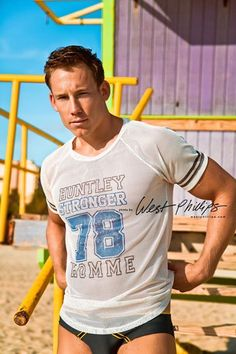 Calum Winsor in our Huntley Stronger Homme Mesh Tee. Image by West Phillips Photography.