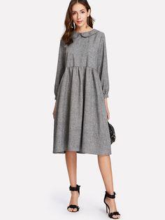 Shop Peter Pan Collar Smock Dress online. SheIn offers Peter Pan Collar Smock Dress & more to fit your fashionable needs.