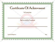 Achievement Certificate Printable Certificates Templates Graduation Spanish Awards College