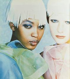 "Naomi Campbell and Kirsten Owen by Peter Lindbergh for Comme des Garçons ""Six"" Magazine #3 (1989)"