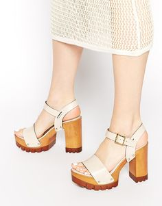 Image 1 of ASOS HARLINGTON Leather Heeled Sandals