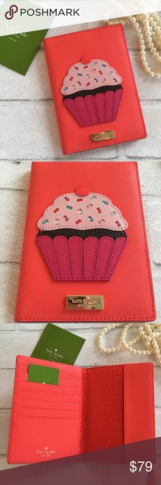 Kate Spade Cupcake Passport & Credit Card Holder Kate Spade Cupcake Passport & Credit Card Holder. Features: 7 credit card slots and One passport Slot. 14K Gold Plated Hardware with Kate Spade Logo. Mini crystals as sprinkles ✨ Price is Firm Unless Bundled. 2 items 10% Off or 3 Items 15% Off. kate spade Bags Wallets