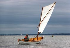 Skerry: 15-foot Double-Ender - Fast Rowing and Sailing Dinghy Boat Building Plans, Boat Plans, Yacht Design, Boat Design, Chesapeake Light Craft, Chesapeake Bay, Sailing Dinghy, Sailing Boat, Sailing Ships