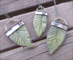 Real Leaf in Resin Necklace ashleyweber on Etsy