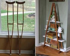 Recycled crutches!