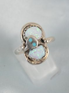 Native American Effie Calavaza Opal Ring by hollywoodrings on Etsy, $85.00