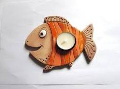 Výsledek obrázku pro adventní keramický svícen ryba