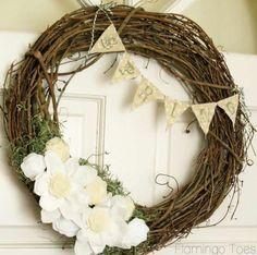 shabby flower wreath