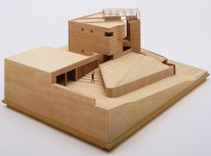 Mario Botta, modulo, maqueta, architectural model