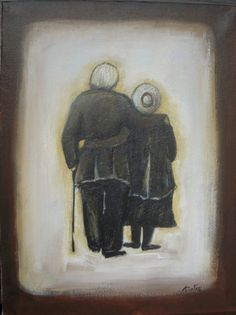 Forever in Love  Original Acrylic Painting  Couple by VESNAsART