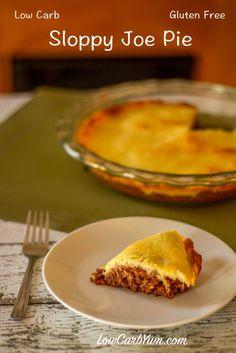 Sloppy Joe Pie Casserole Shared on https://www.facebook.com/LowCarbZen | #LowCarb #Dinner #Casserole