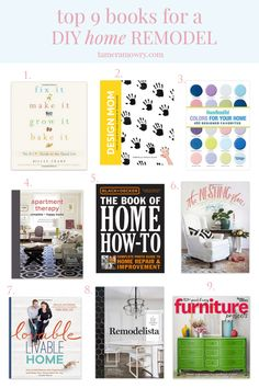 9 Best Books for a DIY Home Remodel via Tamera Mowry