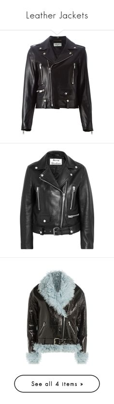 """""""Leather Jackets"""" by fashionlandscape ❤ liked on Polyvore featuring outerwear, jackets, leather jackets, coats, coats & jackets, black, leather moto jacket, real leather jackets, motorcycle jacket and leather straight jacket"""