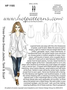 HotPatterns.com -  HP 1185 A4 DOWNLOAD Three-Piece-Sweet Jacket, Tank