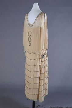 Dress | Callot Soeurs | France | 1924 | silk, rhinestones | Henry Ford Costume Collection