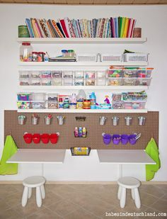 9 Kids Art Space And Storage Ideas