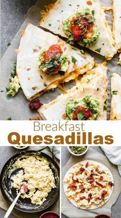 Delicious and easy Breakfast Quesadillas made with bacon, egg and cheese. Enjoy them for breakfast, lunch or dinner! #breakfast #quesadilla #eggs #bacon #cheese via @betrfromscratch Breakfast Quesadilla, Quesadilla Recipes, Breakfast Bites, Brunch Recipes, Breakfast Recipes, Meal Prep Containers, Bacon Egg, Freezer Meals, Yummy Food