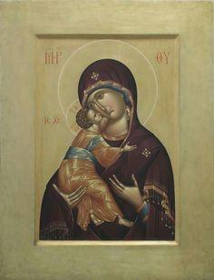 Byzantine Icons, Virgin Mary, Mona Lisa, Images, Marvel, Baseball Cards, Artwork, Painting, Fresco