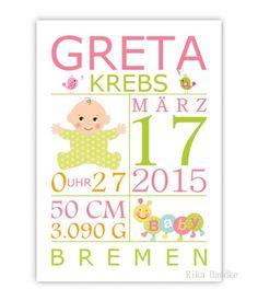 Geschenk zur Geburt, Taufe, Geburtsanzeige,Prinz von Personalisiserte Kinderbilder, Poster, Kunstdrucke, Geschenke zur Geburt & Taufe & Hochzeit. auf DaWanda.com