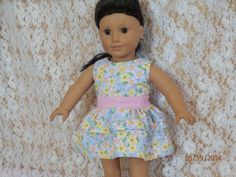 Sleeveless Two Teiered Flowered Dress 18 American by something2do