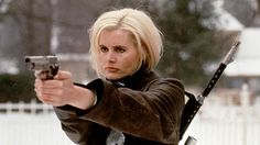 Geena Davis    Action Credentials: The Long Kiss Goodnight, Thelma & Louise, Cutthroat Island  Weapon of Choice: CT Phantom Bow and Arrow