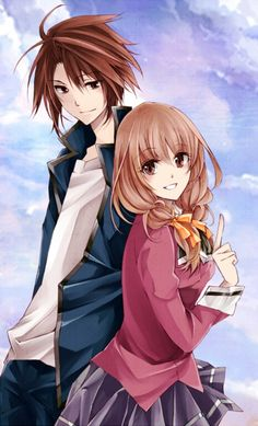 Ayumu and... I forget her name! Such a clever tv show, really made me think! (spiral)